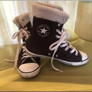 CONVERSE All Star Chuck High Top Fleece Sneaker 6